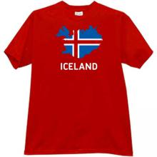 Iceland T-shirt in red