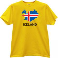 Iceland T-shirt in yellow