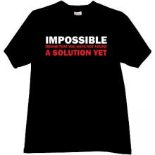 IMPOSSIBLE - Cool T-shirt in black