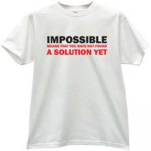 IMPOSSIBLE - Cool T-shirt in white