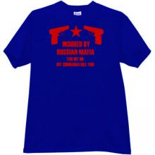 Insured by Russian Mafia Cool T-shirt in blue EN
