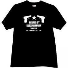 Insured by Russian Mafia Cool T-shirt in black EN