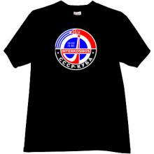 Intercosmos USSR-CUBA Russian T-shirt in black