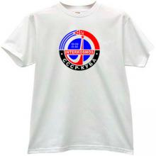 Interkosmos USSR-CUBA Russian T-shirt in white