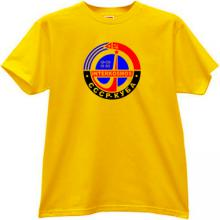 Intercosmos USSR-CUBA Russian T-shirt in yellow