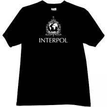 Interpol - International Police T-shirt in black