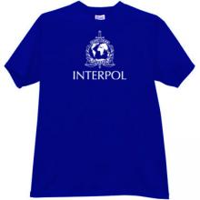 Interpol - International Police T-shirt in blue