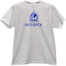 Interpol - International Police T-shirt in gray