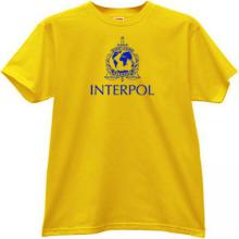 Interpol - International Police T-shirt in yellow
