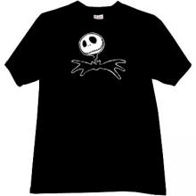 Jack Skellington Halloween T-shirt in black