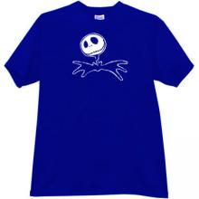 Jack Skellington Halloween T-shirt in blue