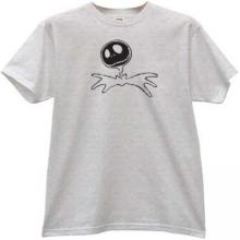 Jack Skellington Halloween T-shirt in gray