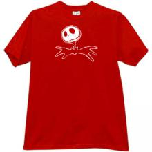 Jack Skellington Halloween T-shirt in red