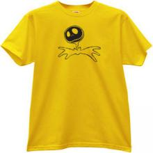 Jack Skellington Halloween T-shirt in yellow
