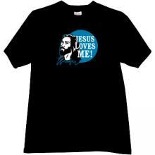 JESUS LOVES ME Christian T-shirt in black