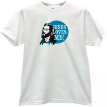 JESUS LOVES ME Christian T-shirt in white