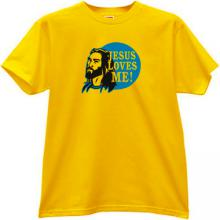 JESUS LOVES ME Christian T-shirt in yellow