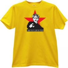 I want you to join the posse! T-shirt in yellow