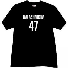 KALASHNIKOV 47 Cool russian rifle AK-47 t-shirt in black