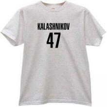 KALASHNIKOV 47 Cool russian rifle AK-47 t-shirt in gray