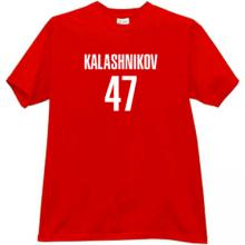 KALASHNIKOV 47 Cool russian rifle AK-47 t-shirt in red