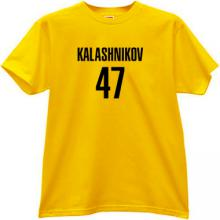 KALASHNIKOV 47 Cool russian rifle AK-47 t-shirt in yellow