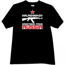 Kalashnikov - Greetings from Russia Cool T-shirt