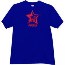 KGB red Star CCCP Russian Secret police T-shirt in blue