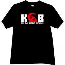 KGB - Still watching you! Cool Russian T-shirt in black
