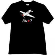 Lavochkin La-7 Russian fighter T-shirt in black