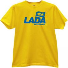 LADA AUTOSPORT Cool T-shirt in yellow
