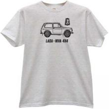 LADA NIVA 4x4 Russian Car T-shirt in gray