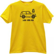 LADA NIVA 4x4 Russian Car T-shirt in yellow