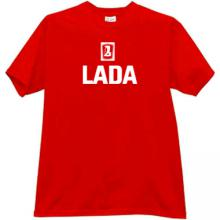 LADA Logo Russian T-shirt in red