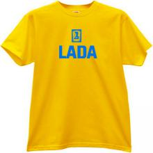 LADA Logo Russian T-shirt in yellow