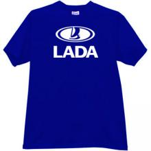 LADA Russian car T-shirt in blue