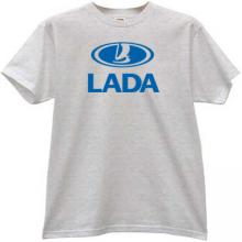 LADA Russian car T-shirt in gray