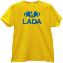 LADA Russian car T-shirt in yellow