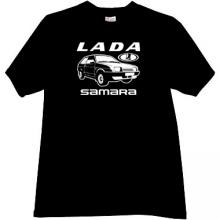 LADA Samara Russian Car T-shirt in black