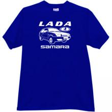 LADA Samara Russian Car T-shirt in blue