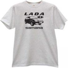 LADA Samara Russian Car T-shirt in gray