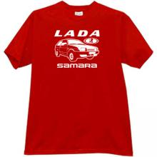 LADA Samara Russian Car T-shirt in red