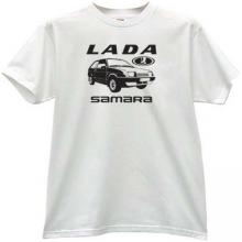 LADA Samara Russian Car T-shirt in white