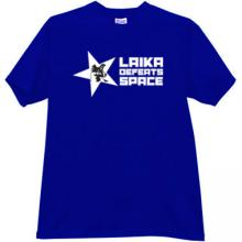 Laika defeats Space Cool T-shirt in blue