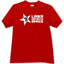 Laika defeats Space Cool T-shirt in red