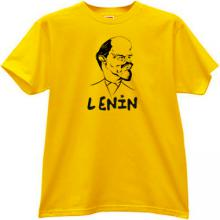 Lenin Funny Caricature T-shirt in yellow