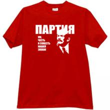PARTY - Mind, honour and conscience of our epoch. Russian T-shir