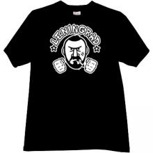 Leningrad russian rock group T-shirt in black