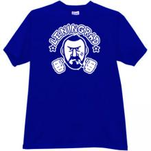 Leningrad russian rock group T-shirt in blue