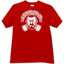 Leningrad russian rock group T-shirt in red